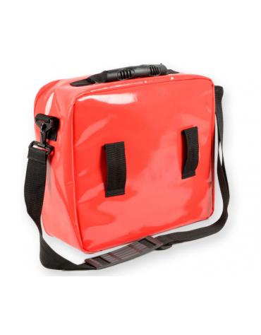 Borsa emergenza Cubo in poliestere rivestito in PVC, colore rosso - 28 x 34 x 13 cm