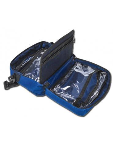 Borsa emergenza primo soccorso, colore blu - 31 x 22 x 11 cm