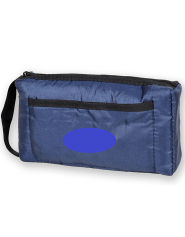 Borsa portasfigmo in nylon, colore blu - 22 x 15,5 cm