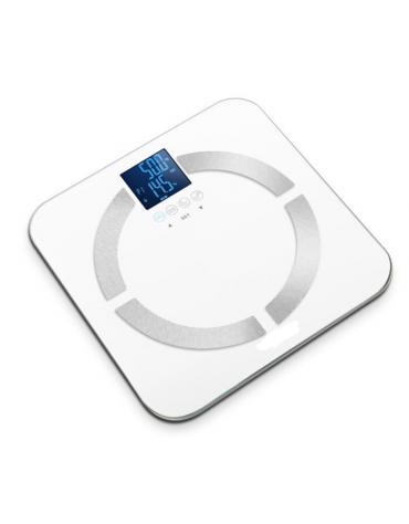 Bilancia multifunzione, in grado di misurare il grasso corporeo, l'acqua, la massa muscolare e ossea - Capacità: 150 kg