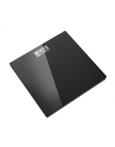 Bilancia da bagno elettronica con pedana in vetro temperato di 6 mm di spessore, portata max 150 kg. - cm 30x30x1,9h