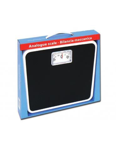 Bilancia da bagno analogica particolarmente stabile con rivestimento in plastica, portata 125 Kg., precisione: 1000 g