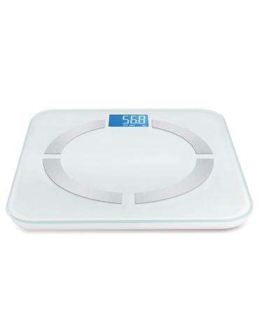 Bilancia per misurare il grasso corporeo, l'acqua, la massa muscolare e ossea, capacità: 150 kg - 310 x 310 x 18,8 mm