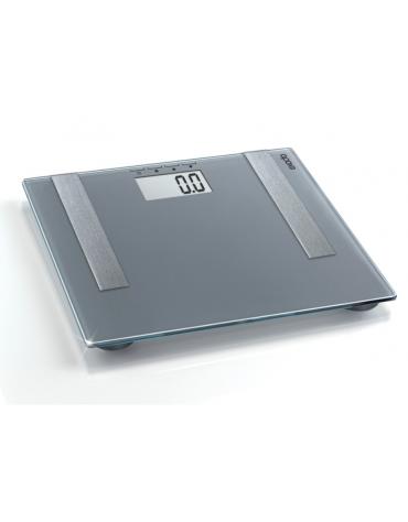 Bilancia digitale per la massa corporea, grasso, acqua, consistenza muscolare e consumo calorico, portata 180 kg.