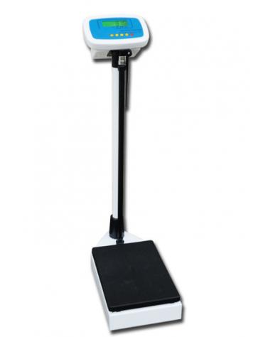 Bilancia digitale Pegaso con altimetro e schermo LCD, portata 200 kg. - 535 x 275 x h 1060 mm