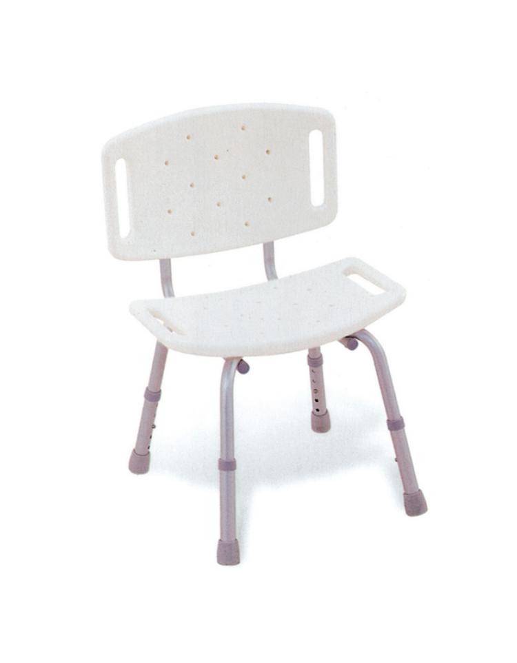 Piedini Plastica Per Sedie.Sedia Per Doccia In Alluminio Con Seduta E Schienale In Plastica