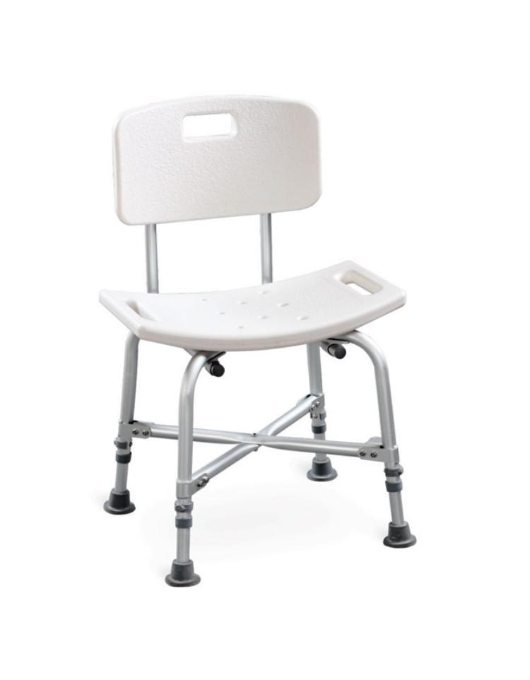 Piedini Plastica Per Sedie.Sedia Da Doccia Rinforzata In Alluminio Seduta E Schienale In