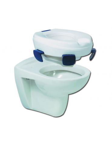 Rialzo wc clipper - 11 cm in plastica iniettata, 4 clip di fissaggio, portata max 185 kg.