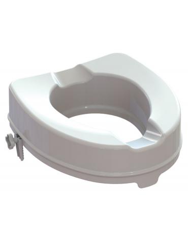Rialzo per WC con sistema di fissaggio laterale 10 cm, portata massima 225 kg. - 36,5 x 40,5 cm