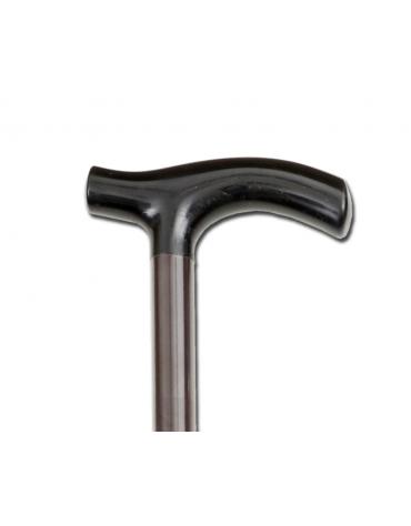 """Bastone per anziani in alluminio con manico a """"T"""" - color bronzo, altezza reg. 72-94 cm, peso: 0.4 kg, portata max 120 kg"""