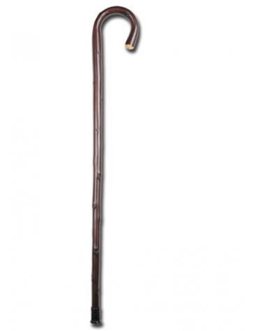 Bastone in legno, curvo, castagno, carico max 100 kg, altezza: 92 cm