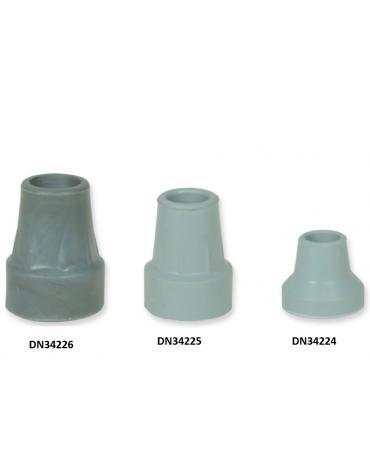 Puntale in gomma universale per stampelle e bastoni, grigio, diam. mm 15, con da 5 pz