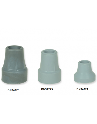 Puntale in gomma universale per stampelle e bastoni, grigio, conf. da 5 pz - diam. mm 22