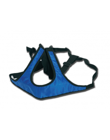 Cintura per carrozzine solida e lavabile in polipropilene con attacco rapido