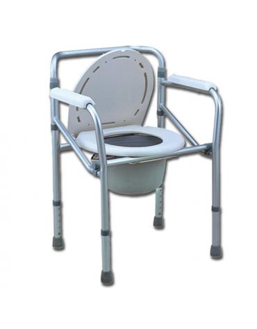 Sedia da bagno, adatta anche come rialzo per wc, altezza regolabile 45-55 cm (retro 78-88 cm)