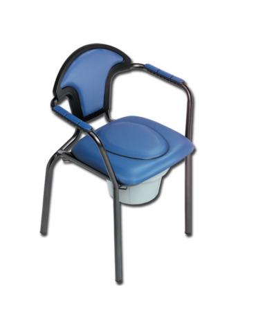 Seduta comoda con wc con tazza è staccabile da entrambi i lati e dall'alto - cm 60,5x58x86h