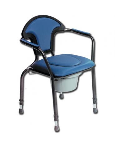 Seduta comoda con wc con tazza è staccabile da entrambi i lati e dall'alto - cm 60,5x58x86/97h