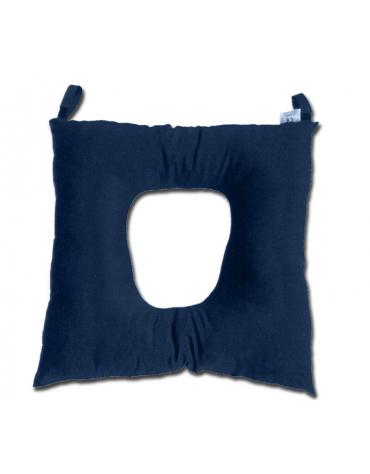 Cuscino antidecubito per collo sagomato forato in fibra cava siliconata con fodera 100% cotone sanforizzato - cm 45 x 45