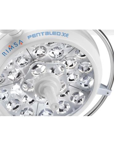 LAMPADA SCIALITICA PENTALED 30E - su piantana, 30 riflettori ellittici in 6 moduli ciascuno 5 LED, luce da 160.000 LUX