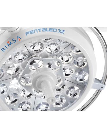 LAMPADA SCIALITICA PENTALED 30E - su piantana con batteria - 30 riflettori ellittici in 6 moduli da 5 LED - 160.000 LUX