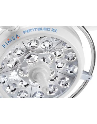 LAMPADA SCIALITICA PENTALED 30E - da parete - 30 riflettori ellittici in 6 moduli da 5 LED - 160.000 LUX
