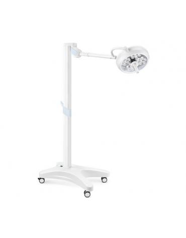 LAMPADA SCIALITICA TRIS A LED - su carrello + batteria, cupola a 4 moduli, ognuno con 7 LED (tot. di 28 LED) - 130.000 lux