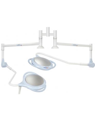Lampada PENTALED a 28 riflettori ellittici - a soffitto doppia, luce fredda 120.000 Lux