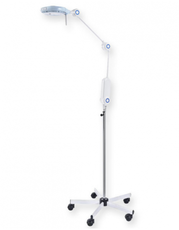 Lampada a luce fredda Primaled con 9 ottiche a led, su carrello - 20000 lux
