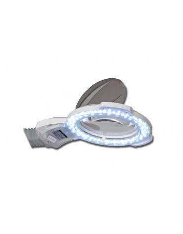 Lampada a LED con luce fredda, lente d'ingrandimento 3 diottrie e regolazione della luminosità - 8 W