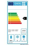 Frigorifero sotto banco in acciaio inox a 2 porte - capacità 470 Lt - temperatura: -2°C/+8°C - mm 1800×700×800h