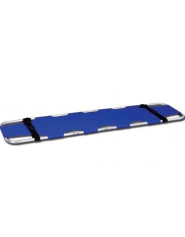 Barella di soccorso  in alluminio, telo in nylon blu, impermeabile spalmato di vinile - cm 188 x 45 x 7h