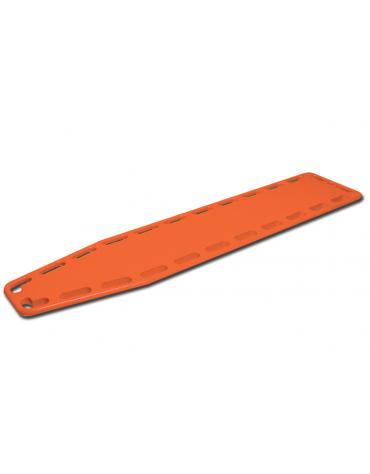 Barella spinale di soccorso, arancione, in polietilene lineare con perni in plastica - cm 184 x 44.5 x 6.5h