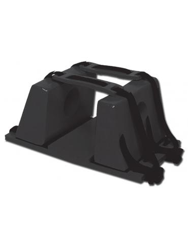 Fermacapo nero per barelle, realizzato in schiuma PE ricoperta con vinile, previene qualsiasi movimento della testa del ferito