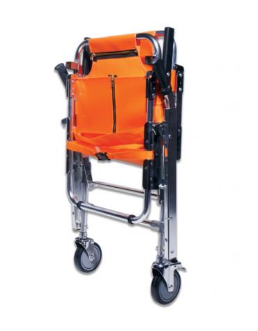 Barella a sedia portantina in alluminio leggero con telo in nylon arancione impermeabile, portata: 150 kg - cm