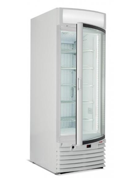 Espositore vetrina congelatore verticale statico - Vetro curvo - cm  67x73,5x196h
