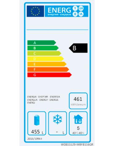 Armadio refrigerato ventilato inox AISI 304 - GN 2/1 - 1 porta - 670 litri - temp. -2°C/+8°C - mm L610xP635xH1540