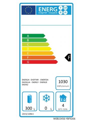 Armadio refrigerato compatto ventilato inox - 1 porta - 450 litri - -2°C/+8°C - mm 600×740×1950h