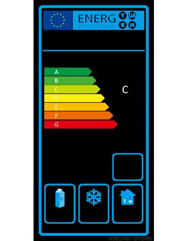 Banco pizza refrigerato ventilato, 2 porte, 7 cassetti - Lt. 485 -  -2°+8°C - mm 2010×800×1000h