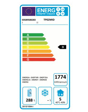 Tavolo Refrigerato Pasticceria 600x 400 a temperatura normale con 2 porte cm 160x80x85h