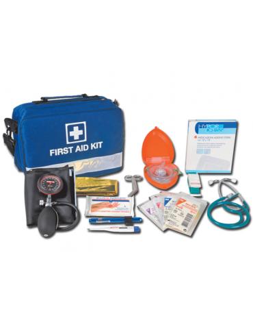Kit pronto soccorso con borsa emergenza - completa di accessori