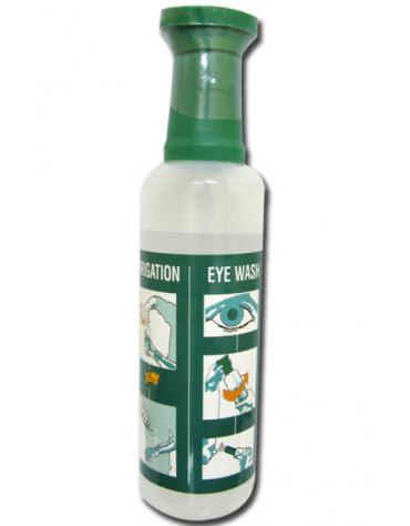 Soluzione salina sterile lavaocchi 500 ml, ricambio per stazione lavaggio oculare cod DN34551