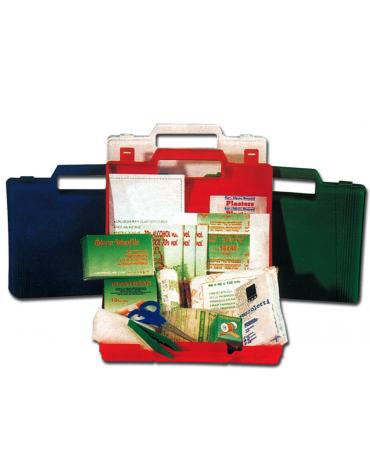 Cassetta di pronto soccorso in polipropilene completa di accessori - mm 235 x 190 x 43h