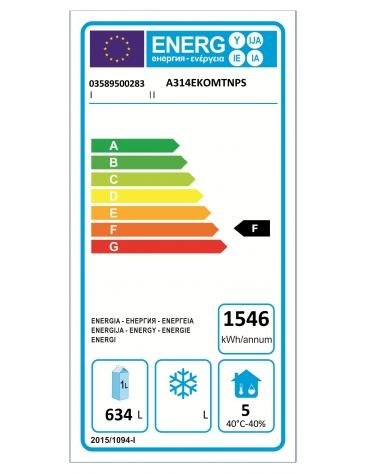 Armadio Refrigerato 600x400 monoblocco, a temperatura normale x Pasticceria con 1 porta e 2 sportelli cm 142x80x203