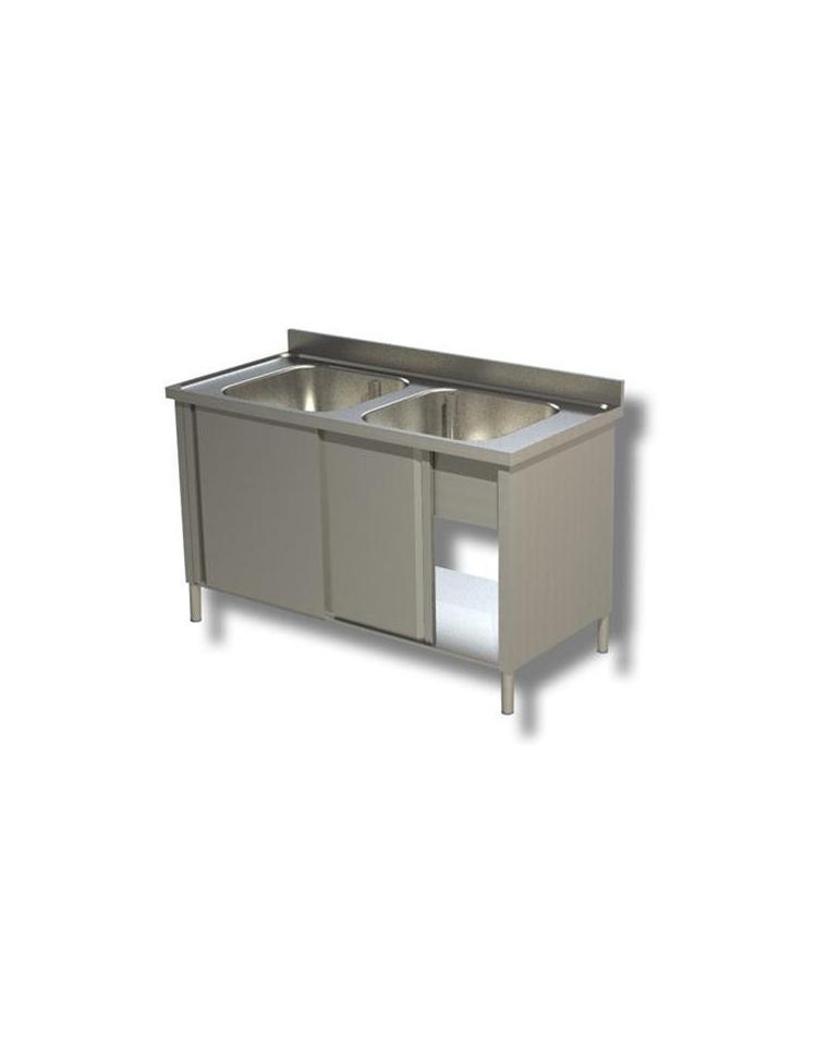Lavello inox armadiato 2 vasche Dimensioni cm.140x70x85h - Lavelli ...