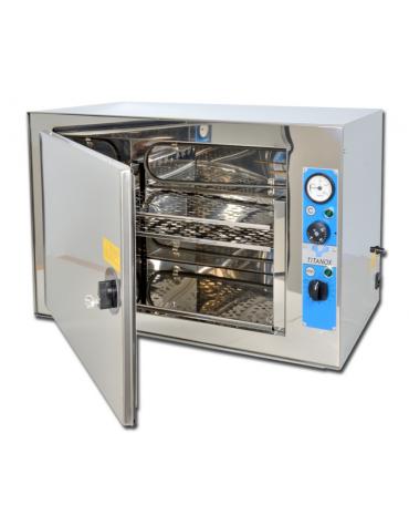 Sterilizzatrice a secco titanox termoventilata - 20 L, con chiusura a chiave, dim. interne mm 405x255x210h