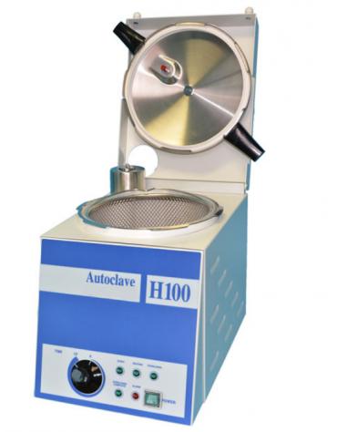 "Autoclave verticale ""H100"", cestello in acciaio INOX , capacità 9 L - Dim int. diam. mm 195x183h"