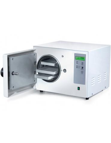 Autoclave elettronica a vapore, 2 cicli di sterilizzazione - Camera 6 L, in alluminio anodizzato: cm ø 17x27h