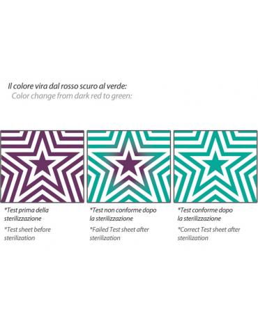 Test Bowie & Dick Upstar per autoclavi - pronto all'uso - cm 14x14x0,8