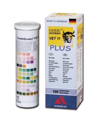 Strisce urine veterinaria - 11 parametri - tubetto da 100 strisce