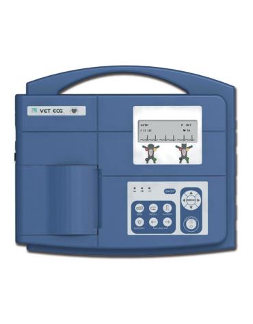 ECG veterinaria VE-100 - 1 canale, display LCD, stampante termica, batteria ricaricabile integrata